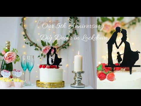 Our Wedding Anniversary Diy Decor In Lockdown|Our 5th Wedding Anniversary celebration in lockdown