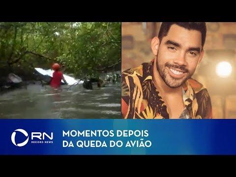 Vídeo mostra momentos depois da queda do avião que levava Gabriel Diniz