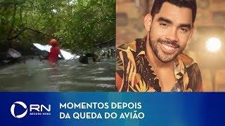 Baixar Vídeo mostra momentos depois da queda do avião que levava Gabriel Diniz