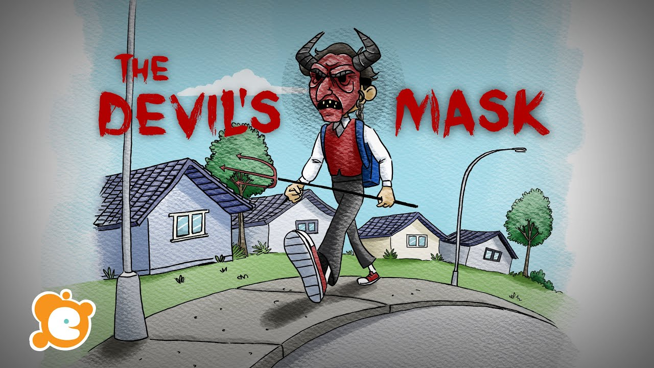 4K - Scary Halloween Story for Kids - The Devil's Mask - by ELF Learning