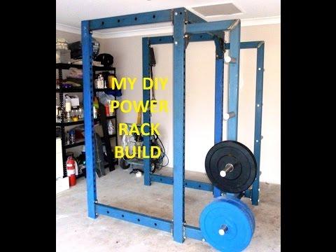 Home gym selber bauen  DIY Home Gym Power Rack selber bauen - YouTube