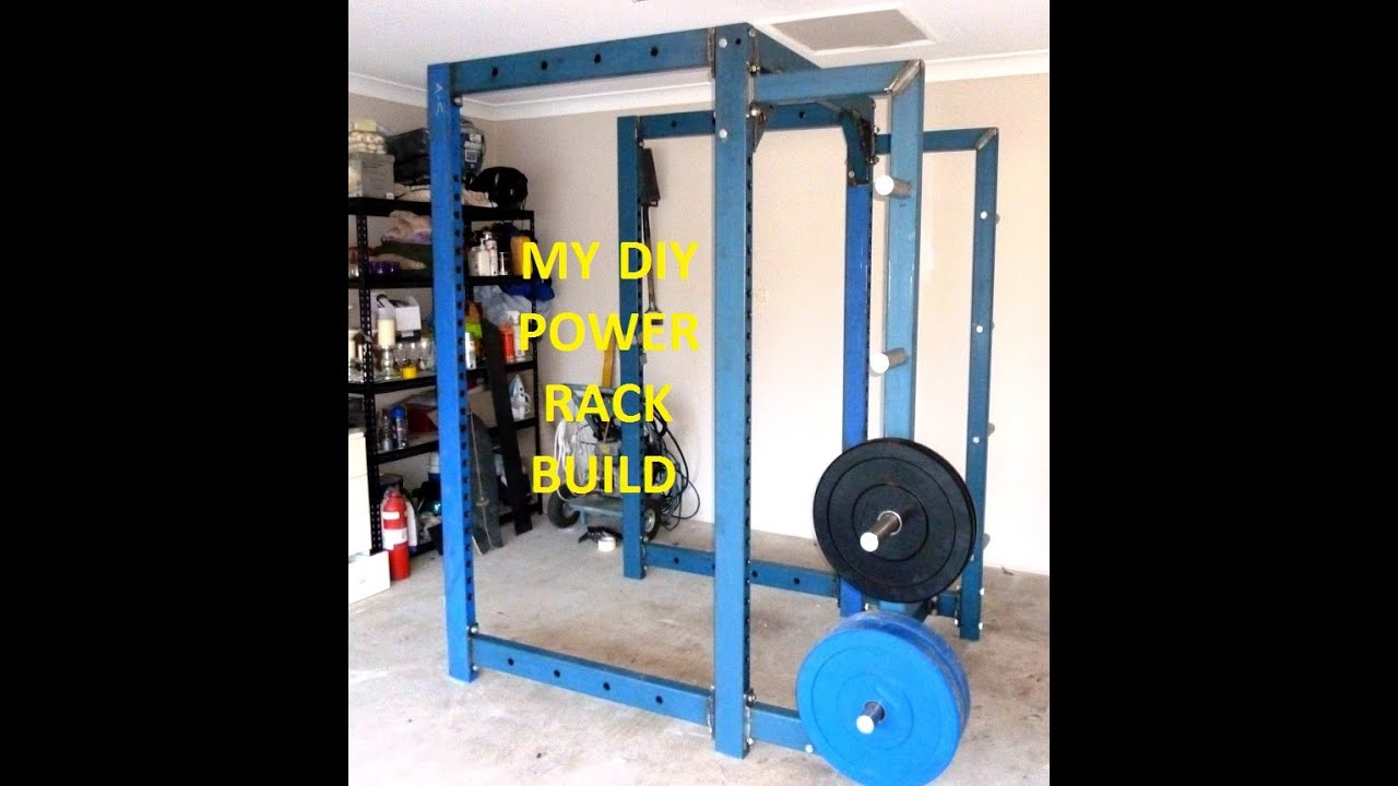 my diy power rack build youtube