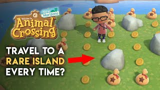 Always Travel To A RARE ISLAND With One Trick? Does It Work?  Animal Crossing: New Horizons