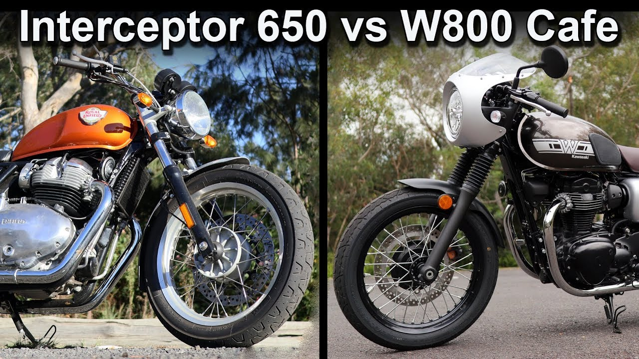 Royal Enfield Interceptor 650 vs Kawasaki W800 Cafe Review
