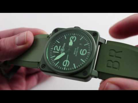 Pre-Owned Bell & Ross Instrument Green Ceramic BR03-92-CK Luxury Watch Review