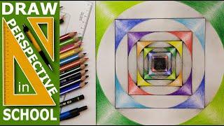 Geometric shape draw:  Circle and Square - Practice - Kör és négyzet, Gyakorlat