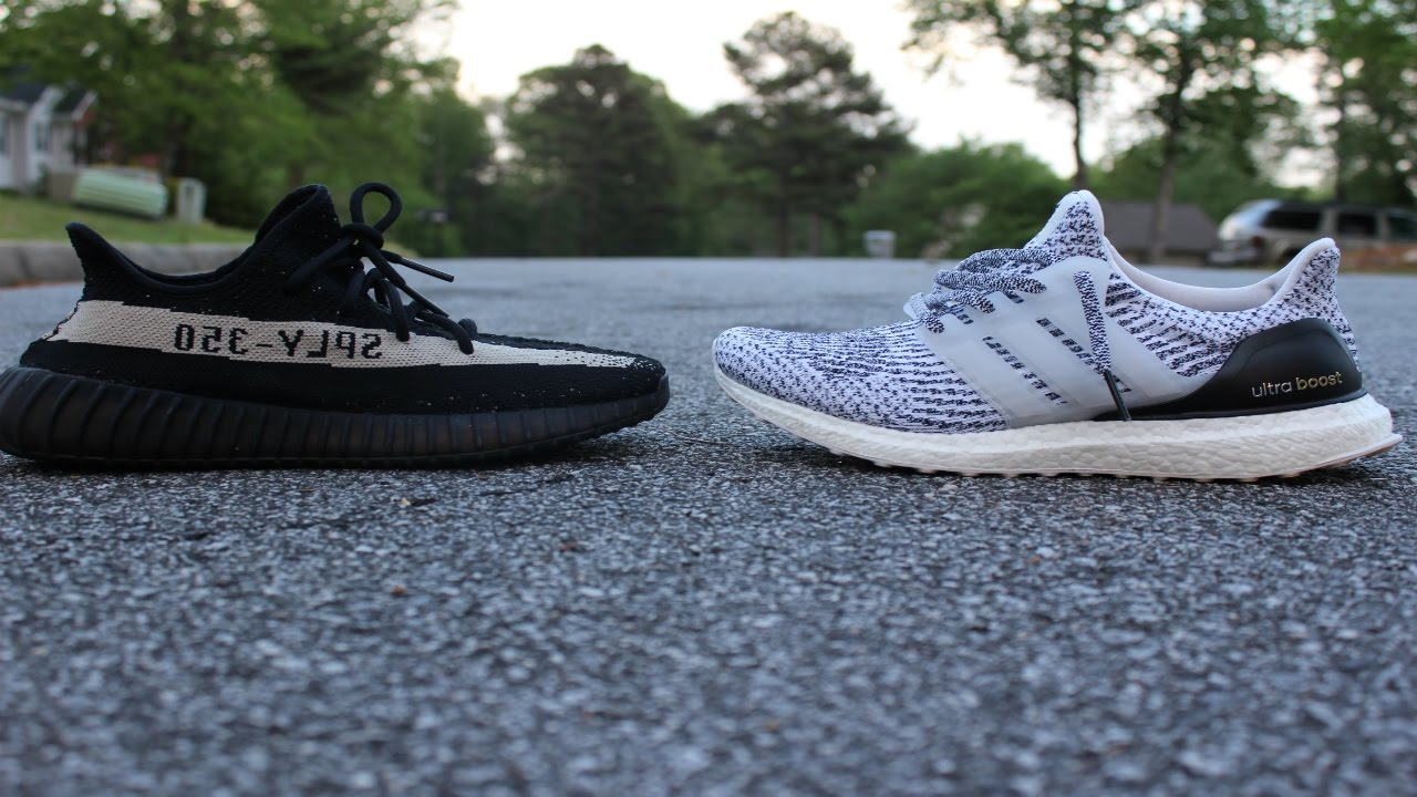 0814b2a37f97 Adidas Ultra Boost vs Yeezy 350 BOOST V2! COMFORT TEST! - YouTube