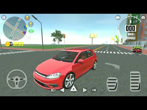 Car Simulator 2 #8 - Red Volkswagen Golf & Tourist Routers Car Games Android Gameplay