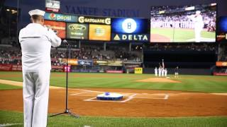 Yankees tribute to the late great Yogi Berra