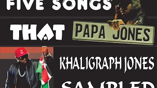FIVE SONGS THAT KHALIGRAPH JONES SAMPLED!