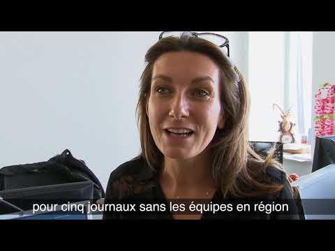 Anne-Claire Coudray en visite à La Montagne