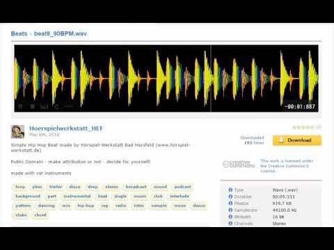 [Freesound] beat8_90BPM.wav - Beats - Background Music - CC0 - hörspiel-werkstatt.de