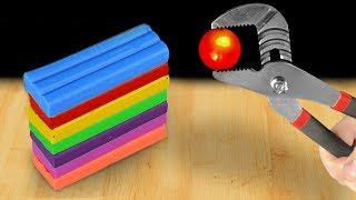 EXPERIMENT: Glowing 1000 Degree Metal Ball VS Plasticine