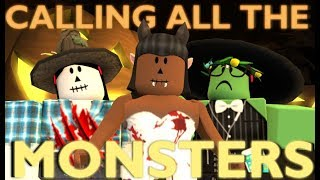 CALLING ALL THE MONSTERS - Halloween Special | Roblox Fan Music Video