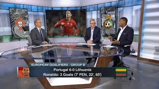[FULL] ESPN FC 11/14 | Euro Qualifiers: Portugal 6-0 Lithuania, Ronaldo 3 goals, Steve Nicol reacts