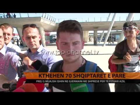 Kthehen me dëshirën e tyre 70 azilkërkues nga Gjermania - Top Channel Albania - News - Lajme
