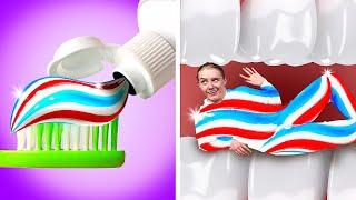 IF TOOTHPASTE WERE AN ANNOYING PERSON || Funny Relatable Situations, DIYs And Hacks