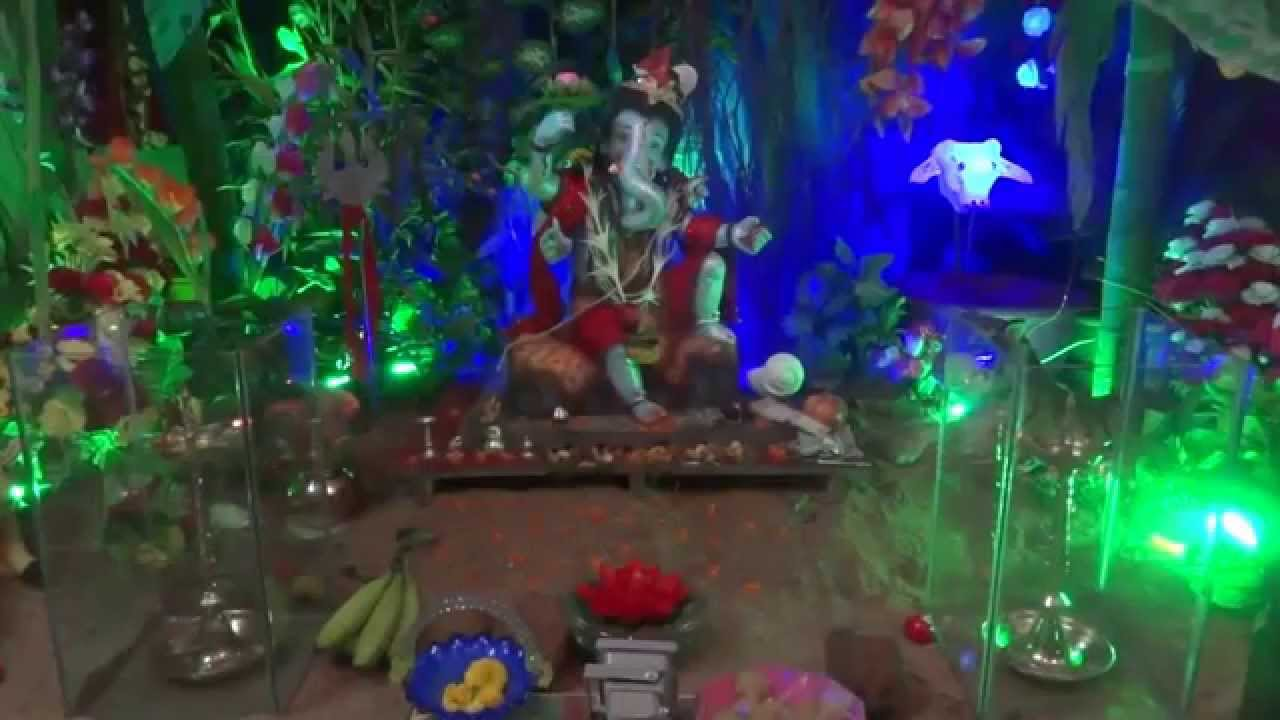Ganpati Home Decoration Eco Friendly 2013 Youtube