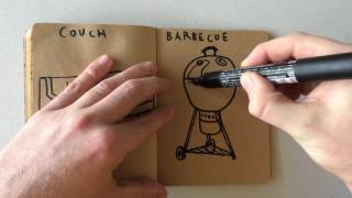 How to Draw a Barbecue