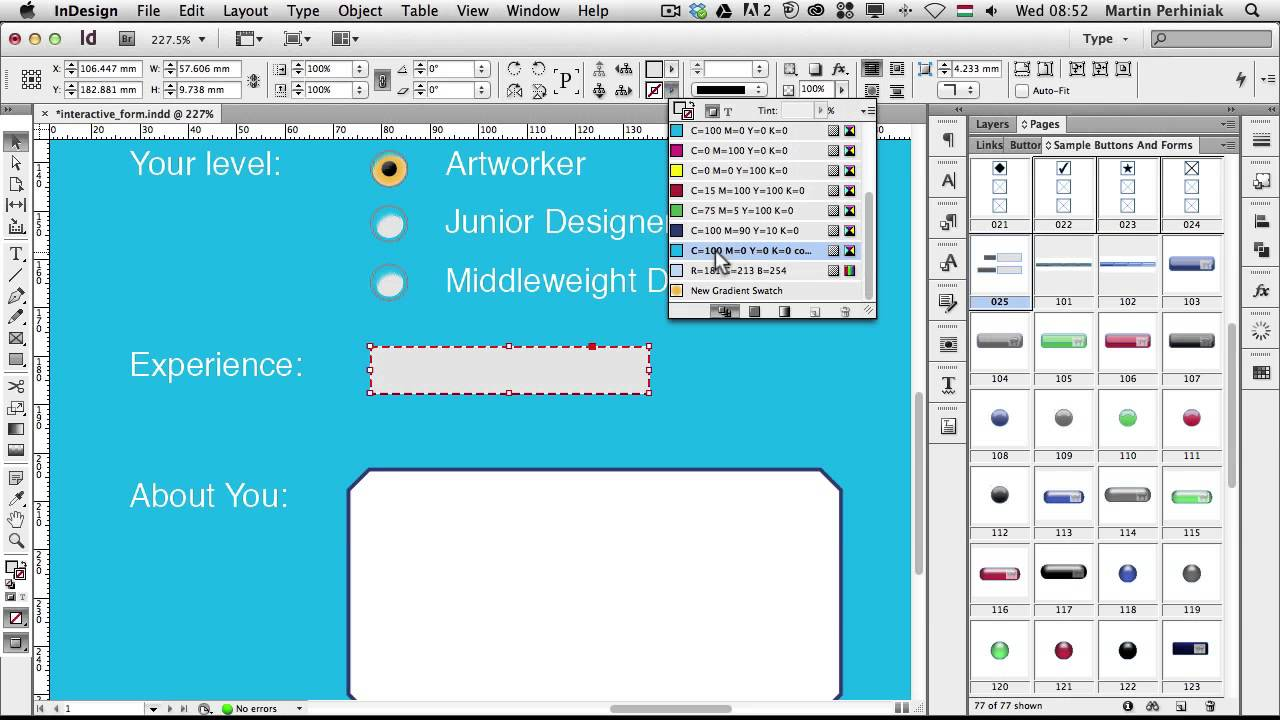 How to Create Interactive Forms with Adobe InDesign - YouTube