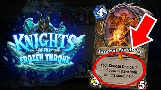 [Hearthstone] 5 Important CHANGES in Knights of the Frozen Throne (Fandral, Hallazeal, Kalimos)