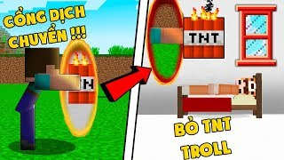 NOOB TROLL MK GAMING BẰNG CỔNG DỊCH CHUYỂN TRONG MINECRAFT (Huy Noob Minecraft)