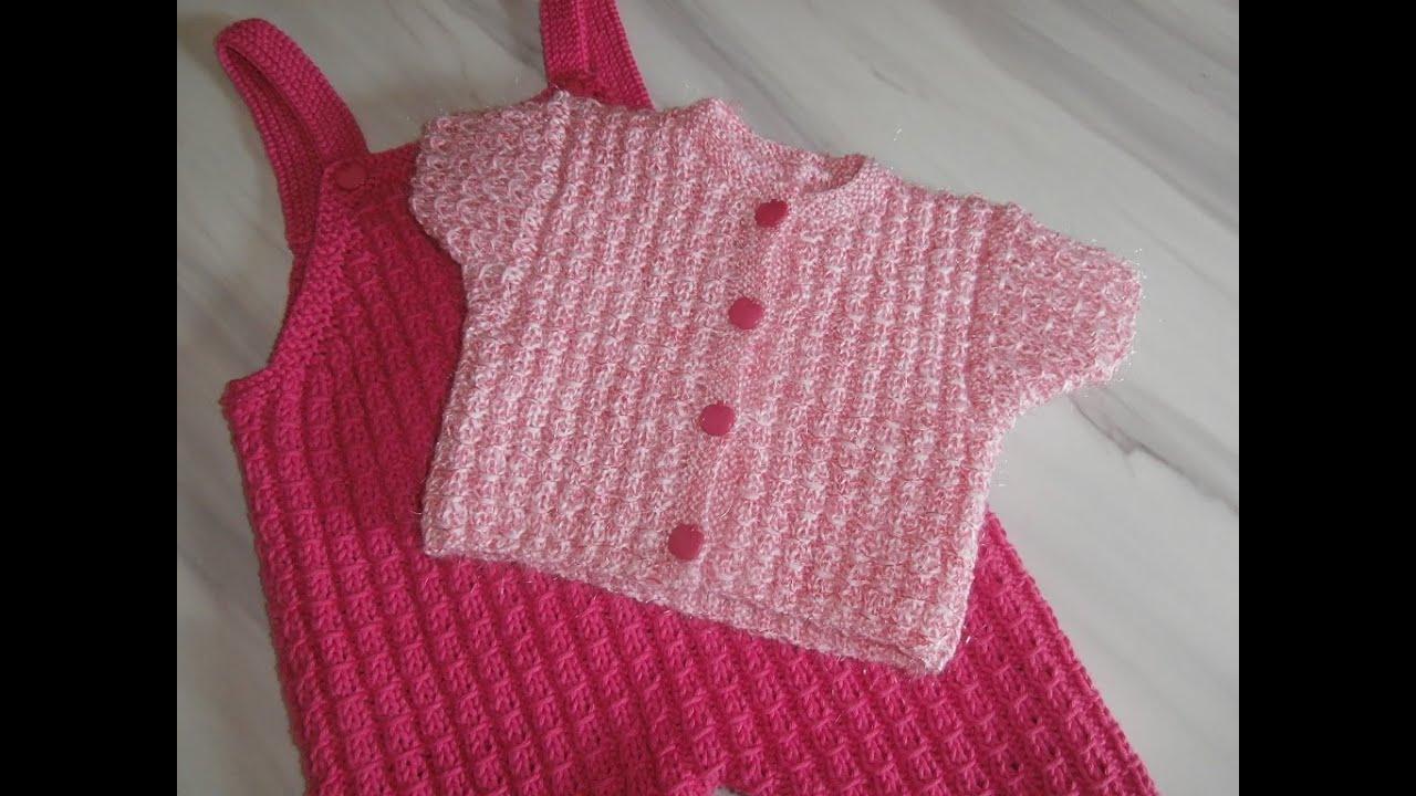 tuto tricot layette combi short taille 3 mois expliqu pendant le diaporama youtube. Black Bedroom Furniture Sets. Home Design Ideas
