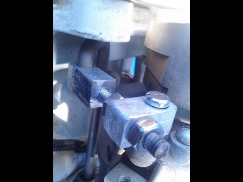 1971 Chrysler 70 HP outboard distributor linkage made from a