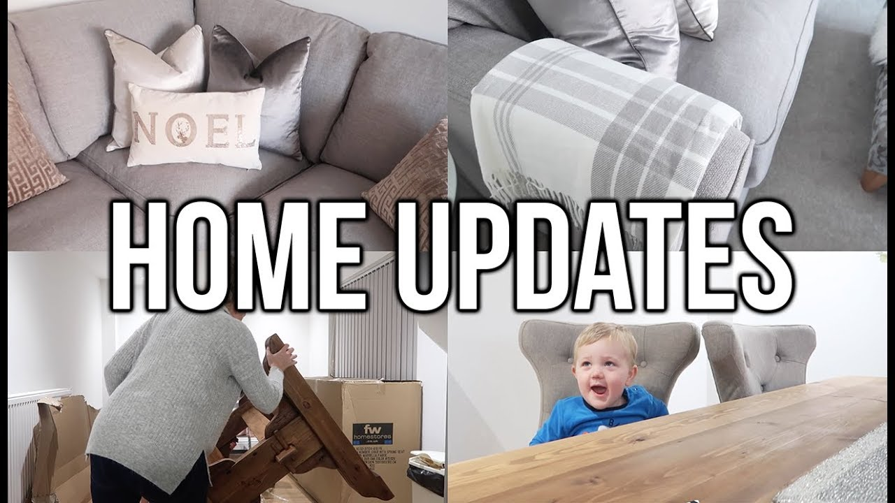 home updates new sofa and dining table youtube