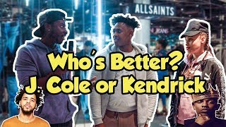 Asking the Public Who's Better? | J. Cole or Kendrick