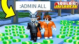Giving ADMIN As ASIMO3089 For CASH! (Roblox Jailbreak) | Jailbreak Winter Update Prank