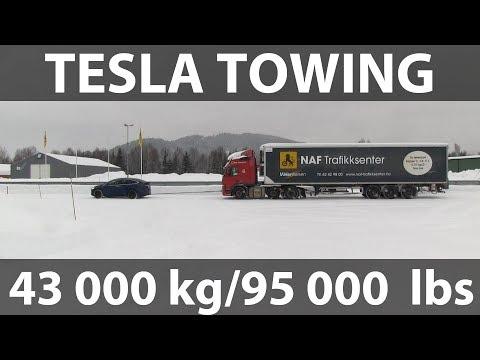 Model X pulling semi trailer