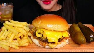 أصوات الأكل برجر اكل بالجبن  😍 أتحداك ما تجوع  😋 🍔🌮🍕🔥 موكبانغ BURGER  ASMR #133