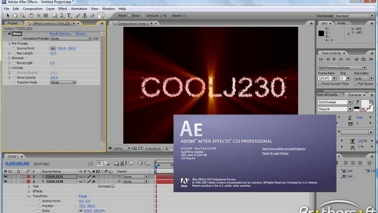 Download Adobe After Effects Cs3 Free Youtube
