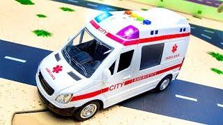 Мультики про машинки для Детей. Скорая помощь, Полицейская машина, пожарная машина
