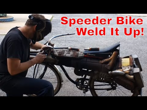 Scrap Metal Star Wars Speeder Bike Bicycle Made from Junk