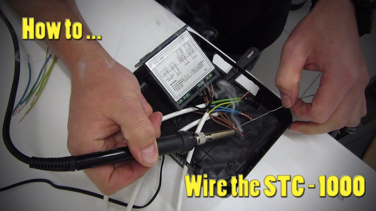 How To Wire The Stc 1000 Temperature Controller Youtube
