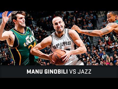 Manu estuvo fino en la paliza de San Antonio ante Utah en la NBA