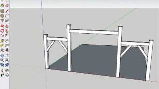 Drawing A Timber Frame In Sketchup (part 3)