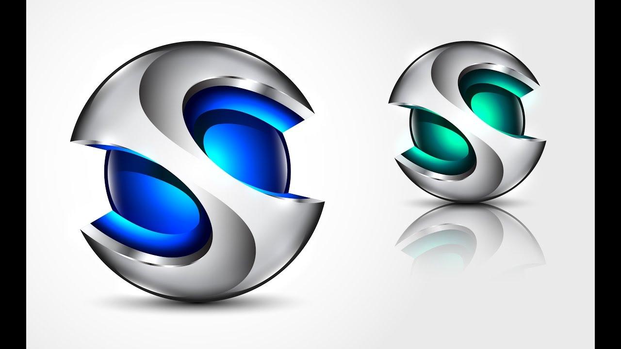 How to create 3D Logo Design in Adobe Illustrator CC   HD ...