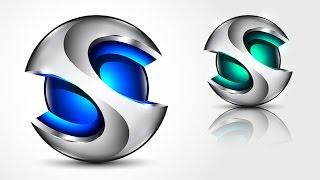 How to create 3D Logo Design in Adobe Illustrator CC | HD | S1 ReDesign
