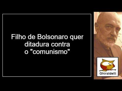 Filho de Bolsonaro quer criminalizar o comunismo