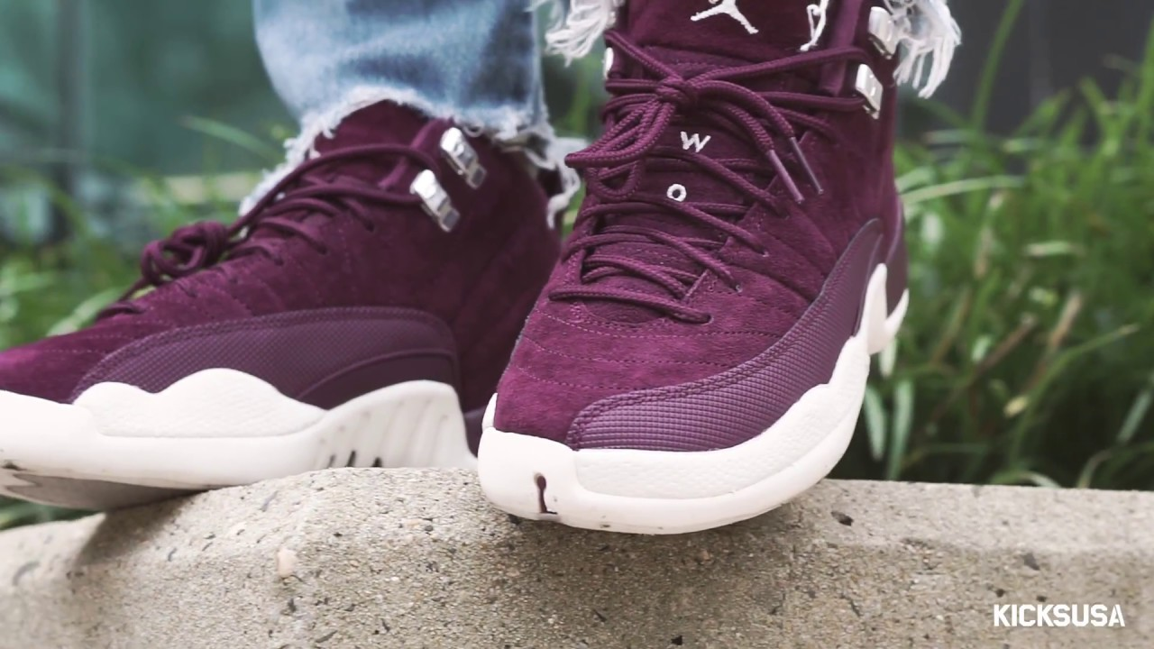 new product 0e3b6 217a8 Air Jordan 12  Bordeaux  ON FOOT Review   Kicks and Fits