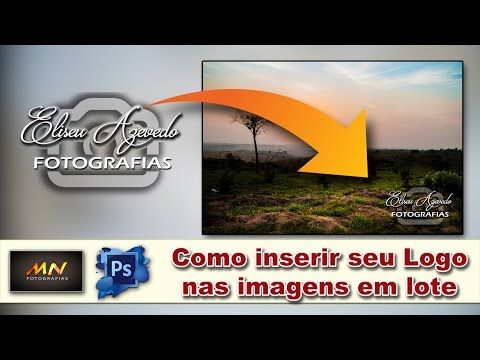 Tutorial Básico Photoshop - (05)  Como inserir seu logo nas imagens em lote (ferramenta Actions)
