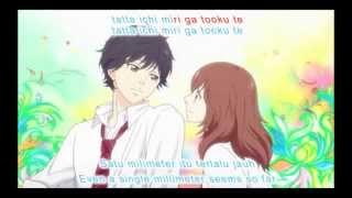 Ao Haru Ride OP [Sekai wa Koi ni Ochiteiru] lyrics + English or Indo Sub [Free download ASS file]