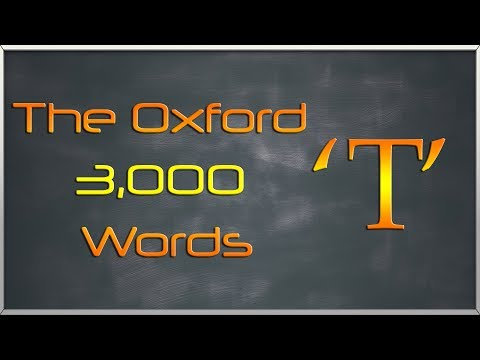 The Oxford 3000 Words List - Words starting with Letter 'T'