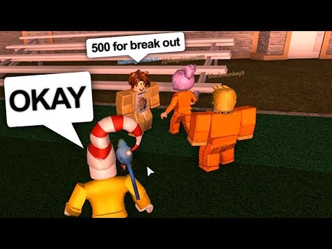 PAYING A COP $500 BUCKS TO BREAK OUT (Roblox Jailbreak)