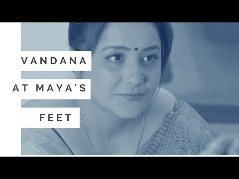 Vandana at Maya's feet  | | Beyhadh: बेहद News - April25, 2017 Sony TV Serial