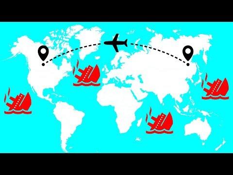 Warum man auf der Flugverfolgung versunkene Schiffe sehen kann