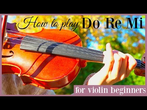 Sound of Music || Do Re Mi (how to play) - Easy beginners song - Violin tutorial